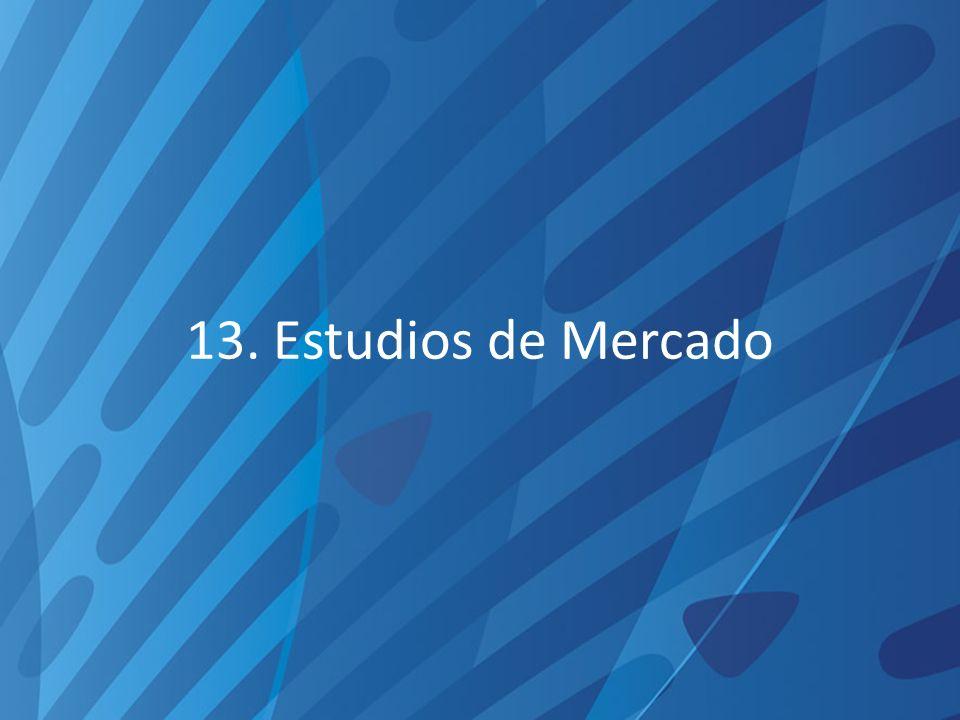 13. Estudios de Mercado