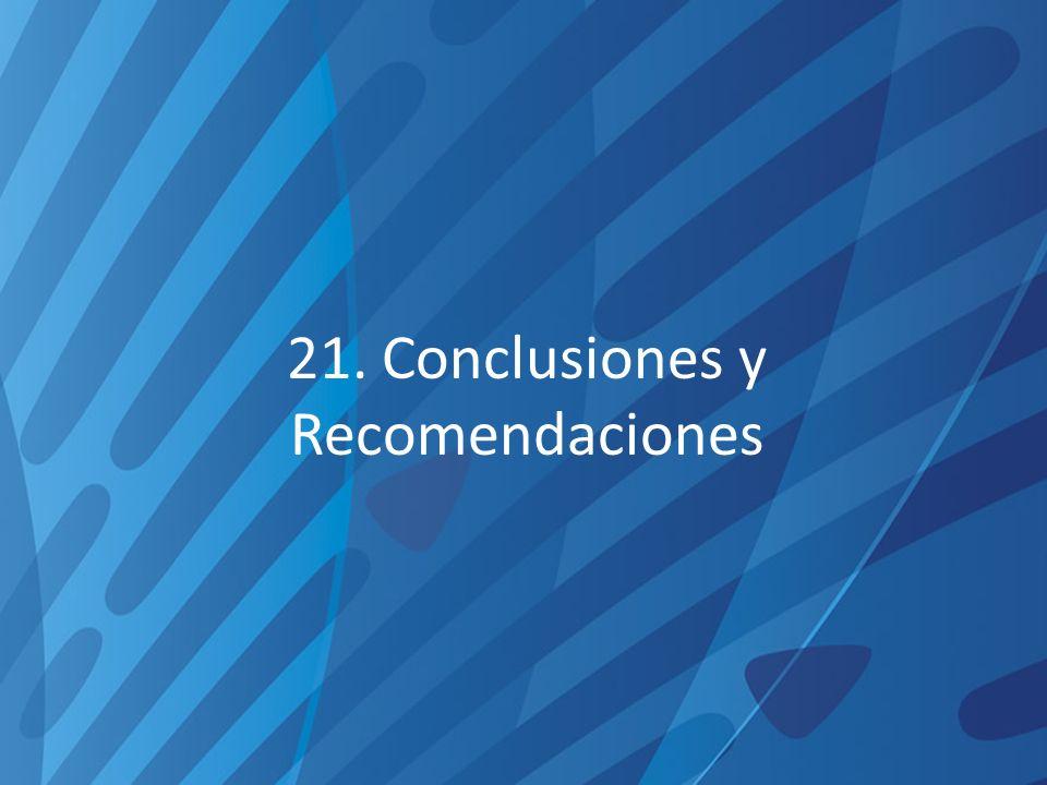 21. Conclusiones y Recomendaciones