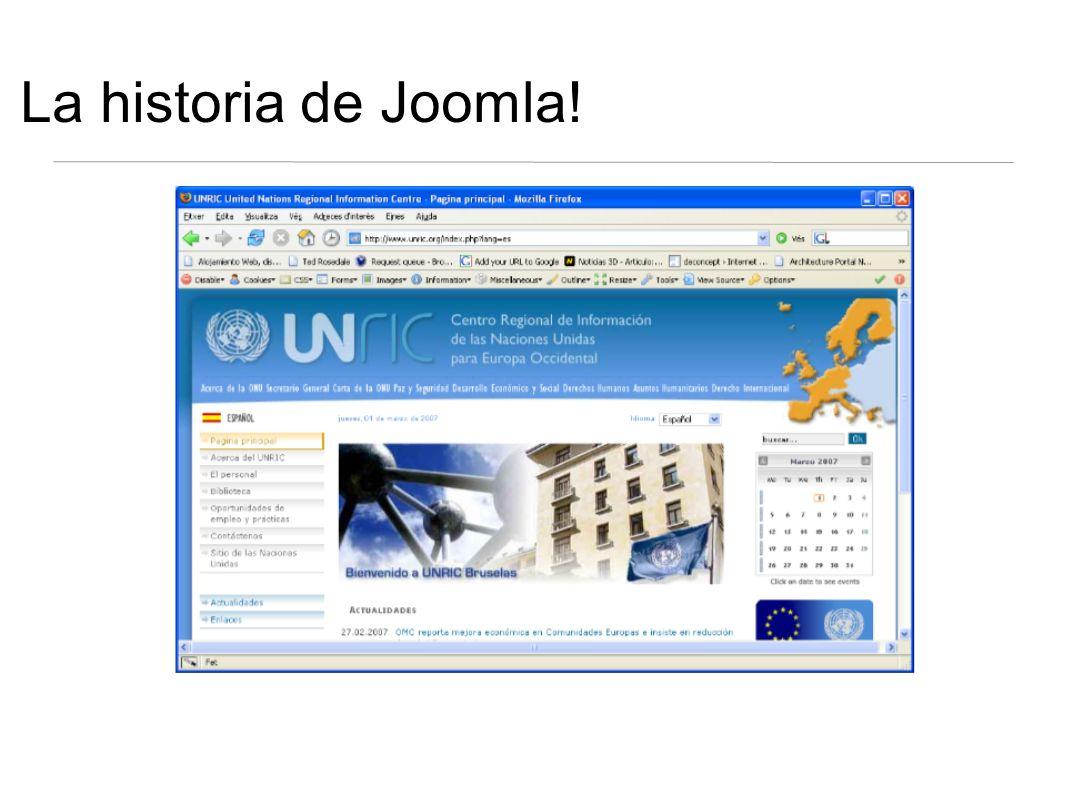 La historia de Joomla!