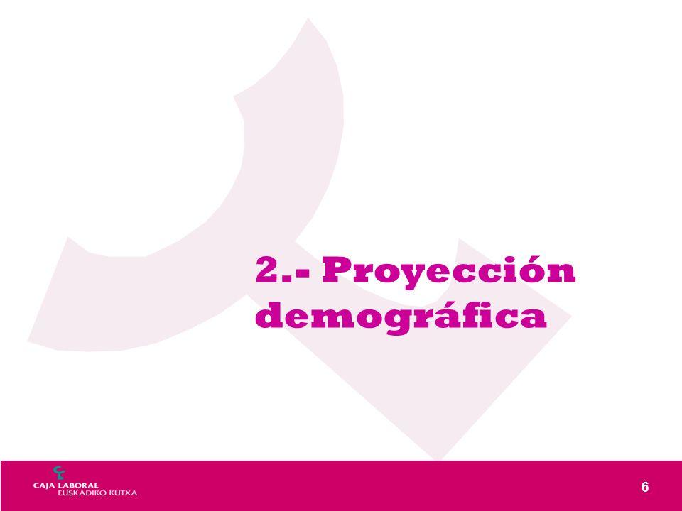 6 2.- Proyección demográfica