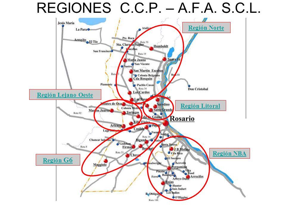 REGIONES C.C.P. – A.F.A. S.C.L.