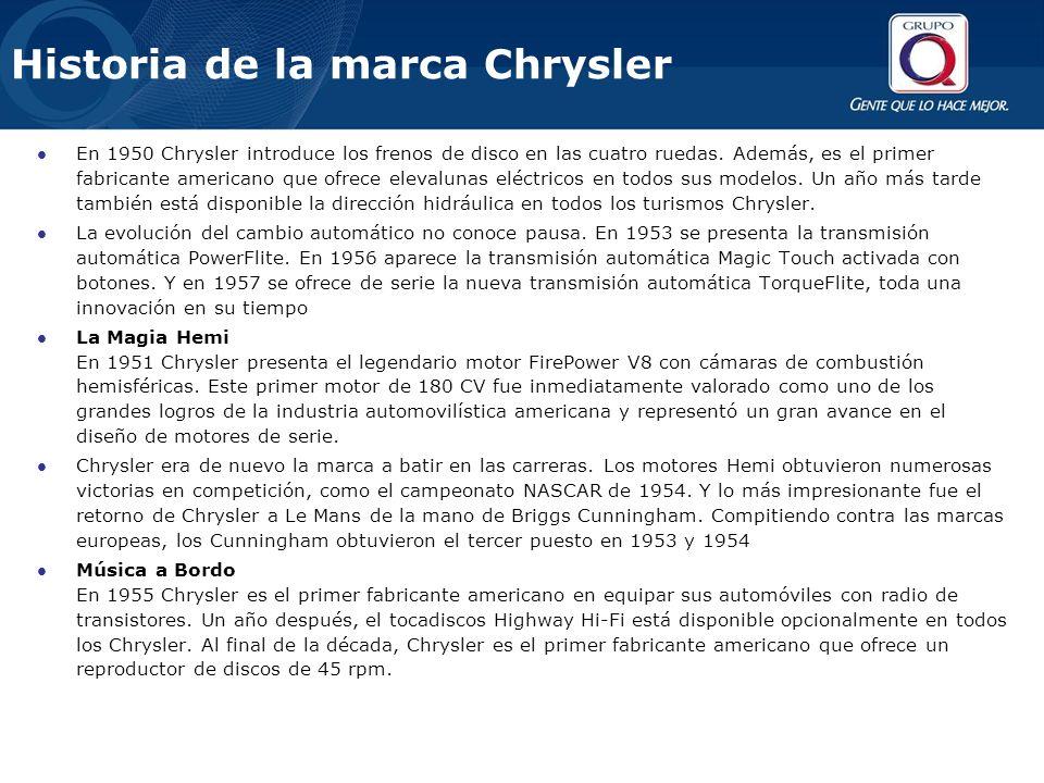 Historia de la marca Chrysler