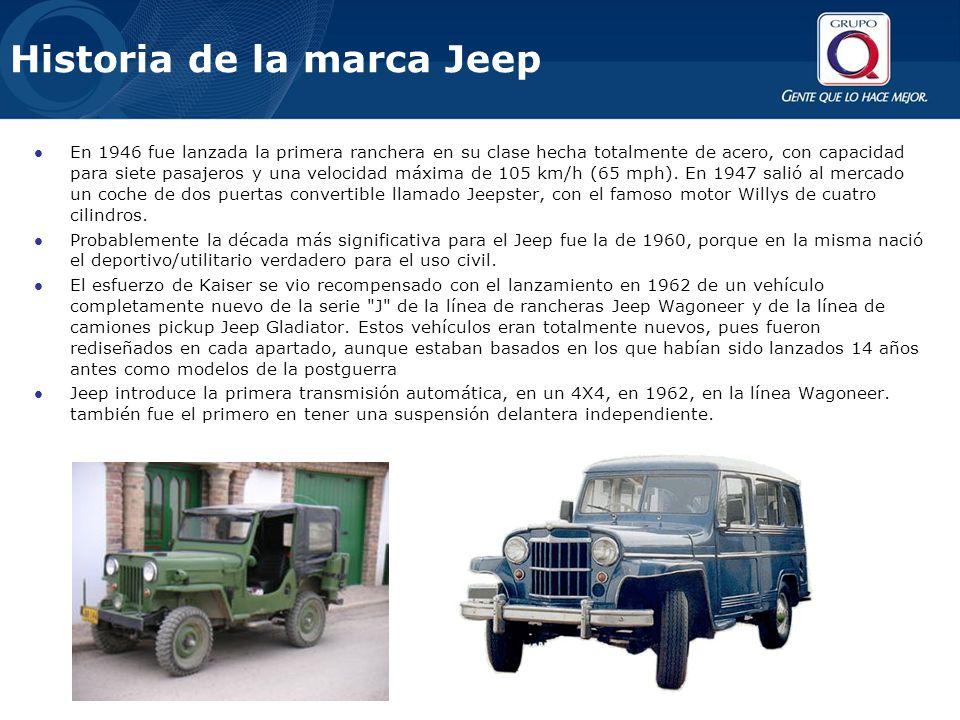 En 1946 fue lanzada la primera ranchera en su clase hecha totalmente de acero, con capacidad para siete pasajeros y una velocidad máxima de 105 km/h (