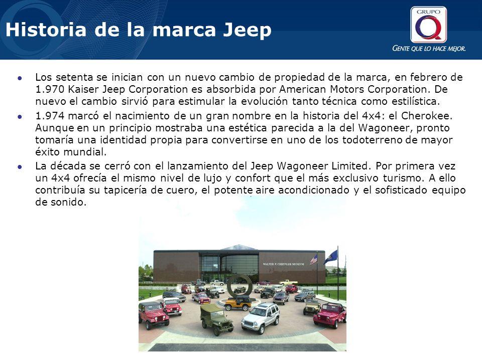 Los setenta se inician con un nuevo cambio de propiedad de la marca, en febrero de 1.970 Kaiser Jeep Corporation es absorbida por American Motors Corp