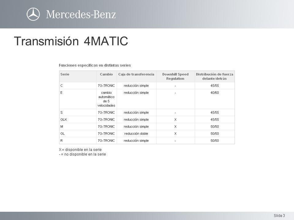 Slide 4 Transmisión La velocidad del vehículo puede ajustarse entre los valores de 4 kmh a 18 kmh por la palanca del piloto automático.