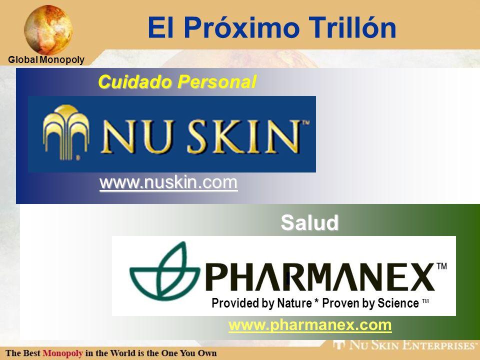 Global Monopoly Cuidado Personal Cuidado Personal www.nuskin.com El Próximo TrillónSalud www.pharmanex.com Provided by Nature * Proven by Science TM
