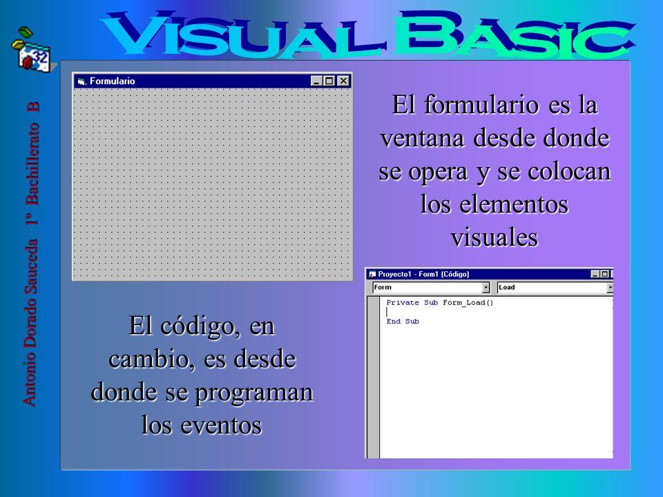 La programación visual, es un tipo de programación que utiliza elementos visuales, como botones, dibujos,etc., controlados por el cuadro de herramient