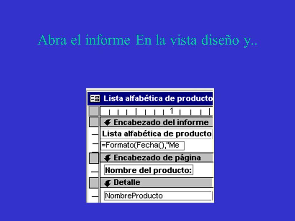 Como imprimir un informe Seleccione el informe en la base de datos o …...