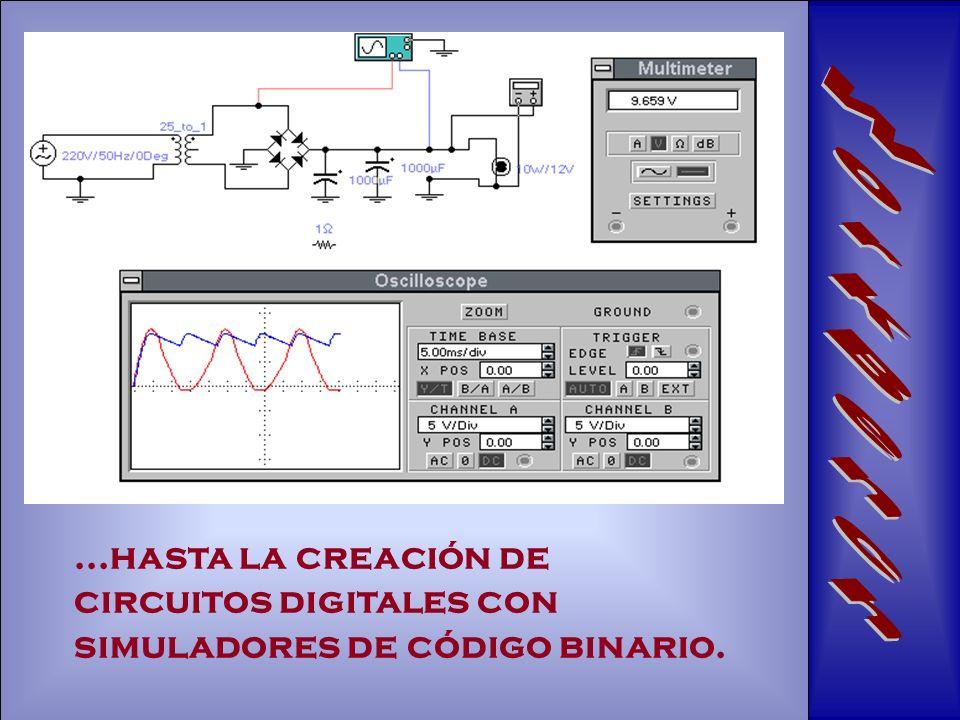 ...hasta la creación de circuitos digitales con simuladores de código binario.