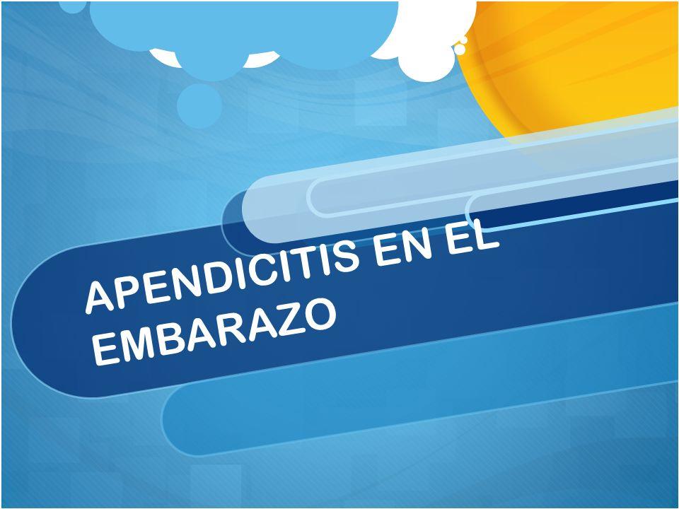 APENDICITIS EN EL EMBARAZO