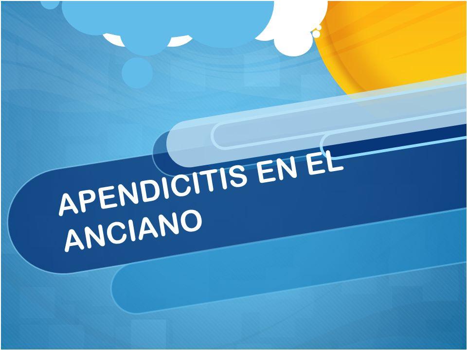 APENDICITIS EN EL ANCIANO