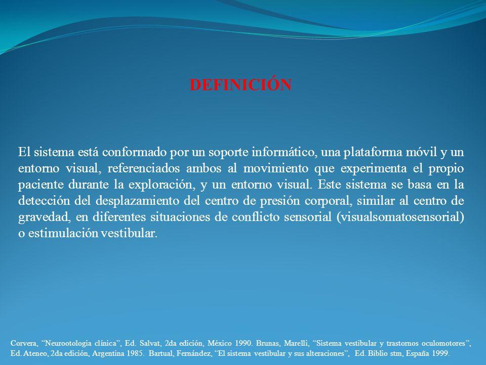 DEFINICIÓN El sistema está conformado por un soporte informático, una plataforma móvil y un entorno visual, referenciados ambos al movimiento que expe