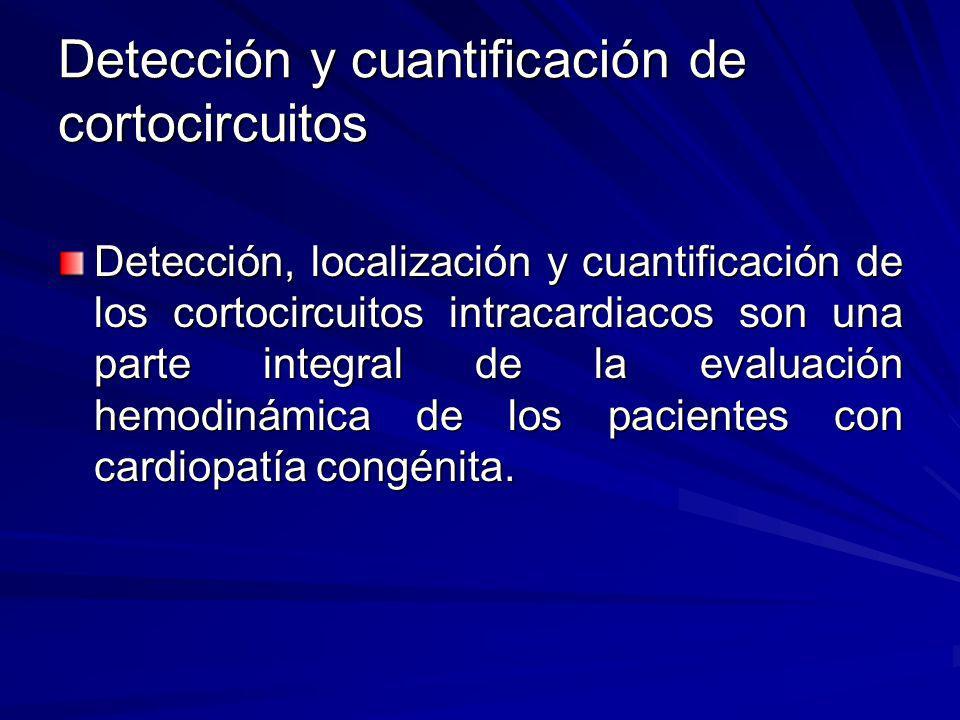 Detección y cuantificación de cortocircuitos Detección, localización y cuantificación de los cortocircuitos intracardiacos son una parte integral de l