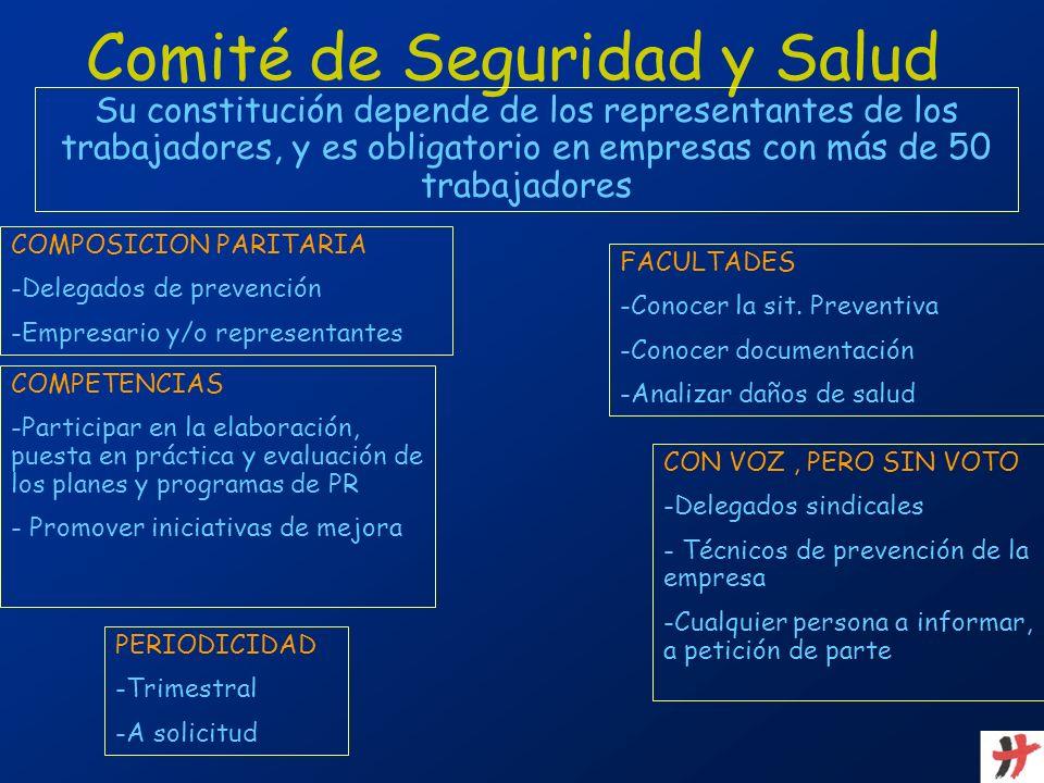 Su constitución depende de los representantes de los trabajadores, y es obligatorio en empresas con más de 50 trabajadores COMPOSICION PARITARIA -Dele