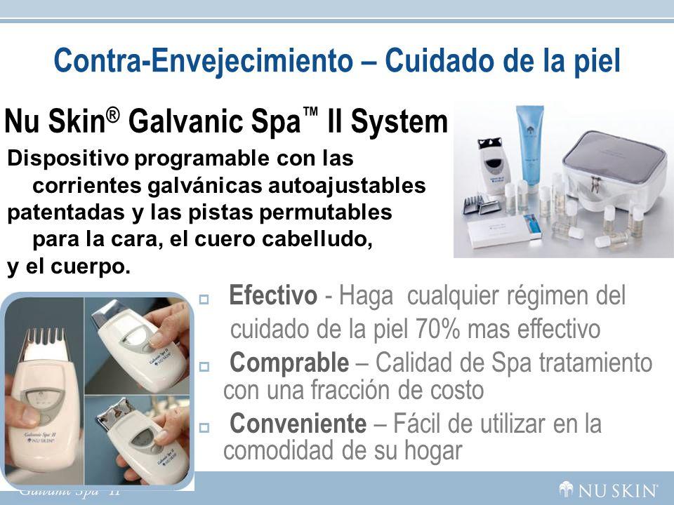 Contra-Envejecimiento – Cuidado de la piel Nu Skin ® Galvanic Spa II System Dispositivo programable con las corrientes galvánicas autoajustables paten