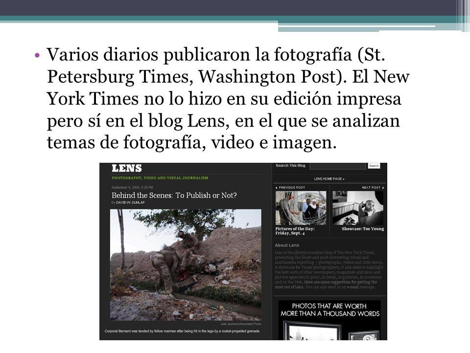 Varios diarios publicaron la fotografía (St. Petersburg Times, Washington Post).