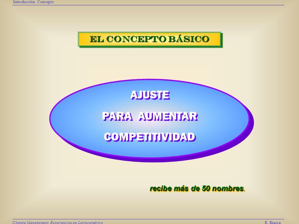 SINTESI S Síntesis R. Biasca Change Management. Experiencias en Latinoamérica