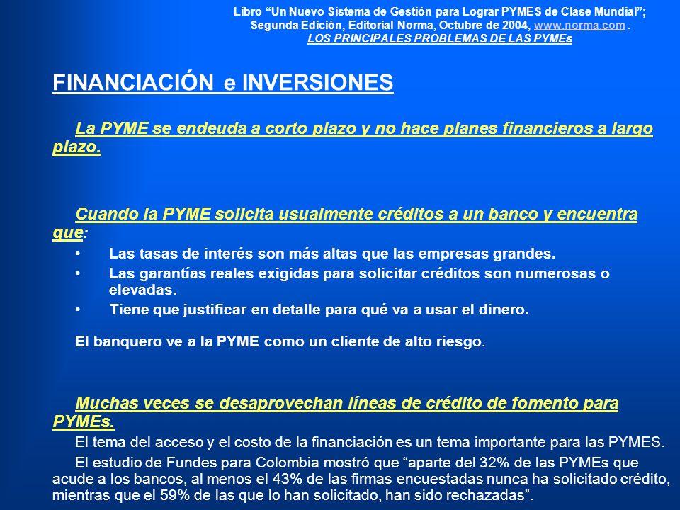 Libro Un Nuevo Sistema de Gestión para Lograr PYMES de Clase Mundial; Segunda Edición, Editorial Norma, Octubre de 2004, www.norma.com.