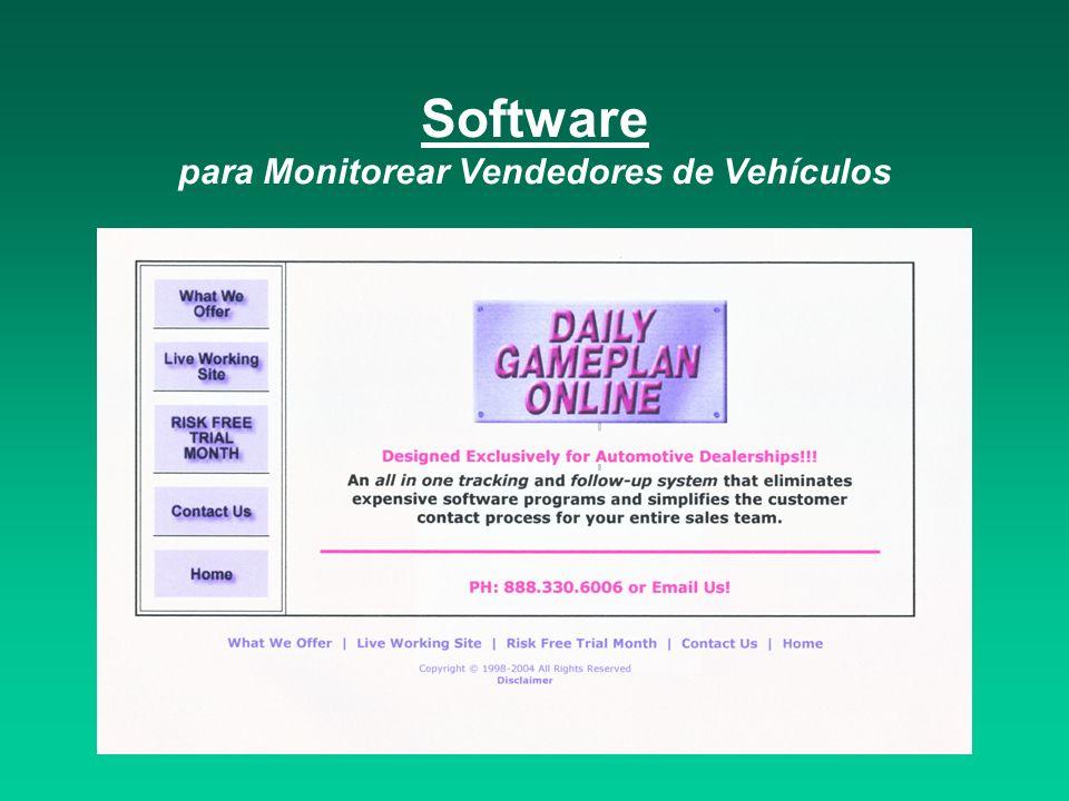 Software para Monitorear Vendedores de Vehículos