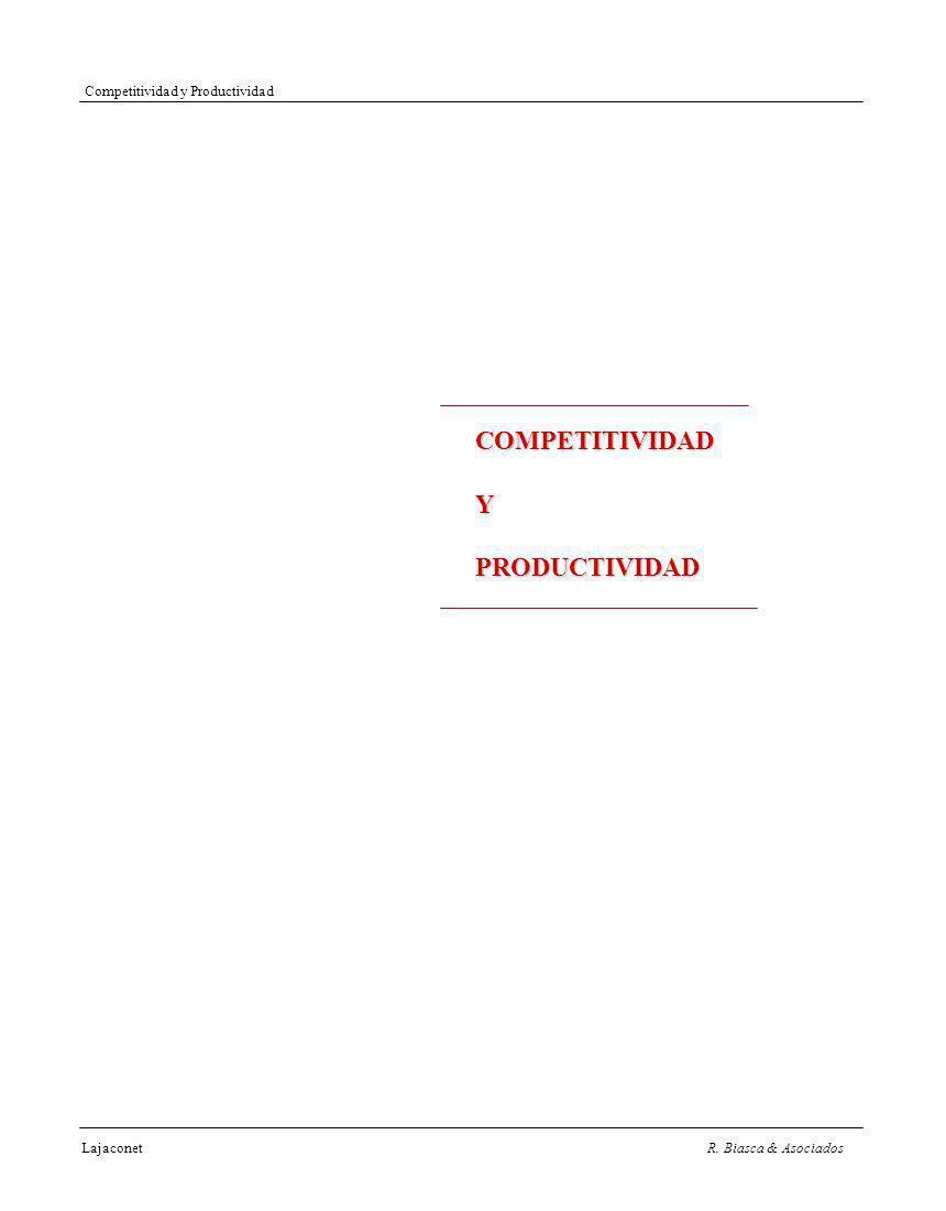 LajaconetR. Biasca & Asociados Competitividad y Productividad COMPETITIVIDADYPRODUCTIVIDAD