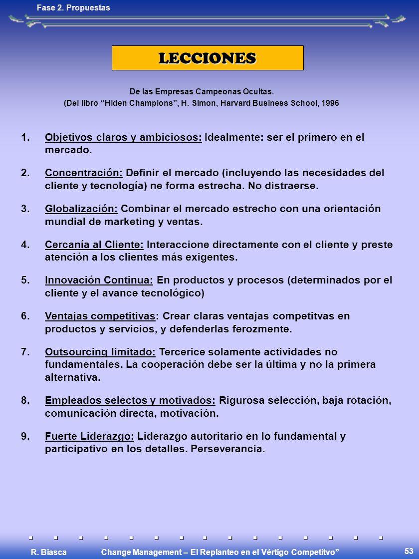 Change Management – El Replanteo en el Vértigo Competitvo R.