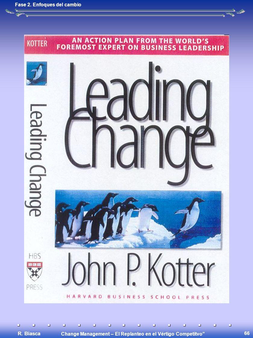 Change Management – El Replanteo en el Vértigo Competitvo R. Biasca 66 Fase 2. Enfoques del cambio