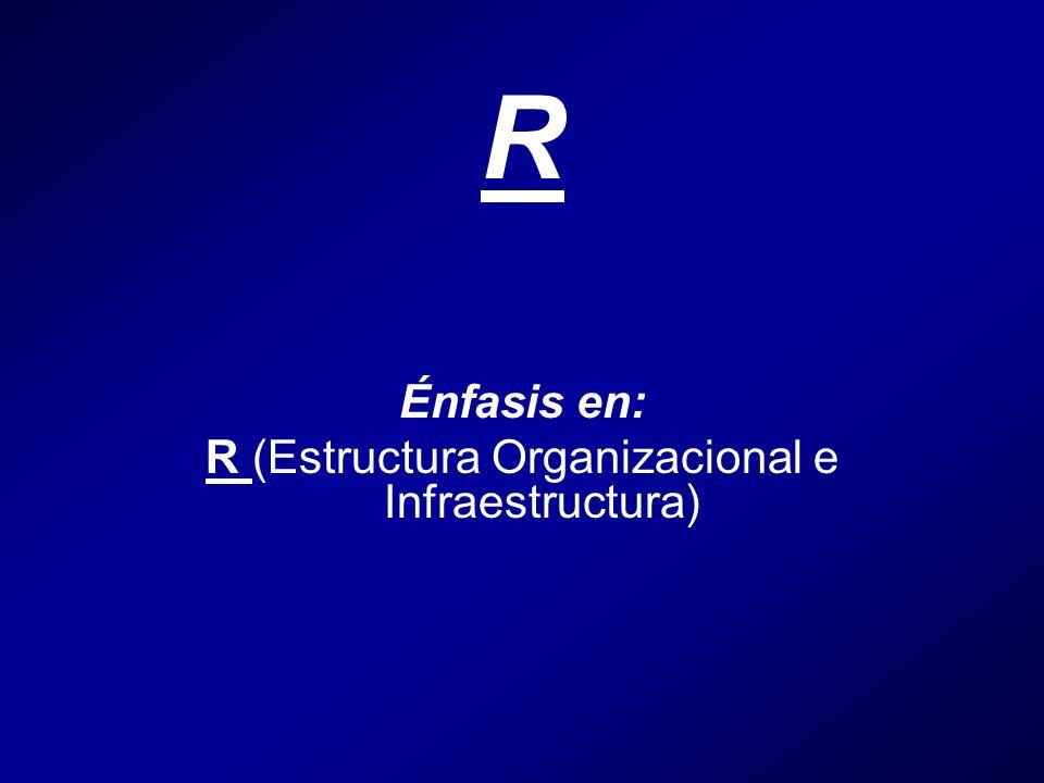 R Énfasis en: R (Estructura Organizacional e Infraestructura)