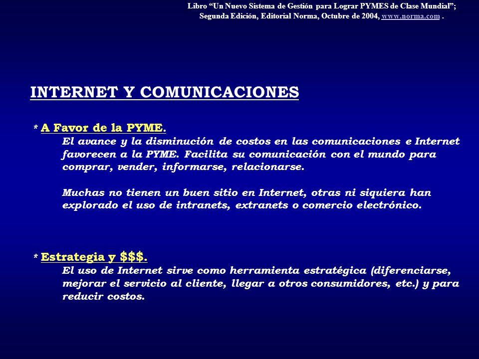 Libro Un Nuevo Sistema de Gestión para Lograr PYMES de Clase Mundial; Segunda Edición, Editorial Norma, Octubre de 2004, www.norma.com.www.norma.com I