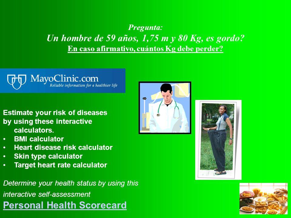Rodolfo Biasca tiene 61 años, 1,75 m y 85 Kg. Pregunta: Es gordo? En caso afirmativo, cuántos Kg debe perder? Responda con un número (número de Kg, si