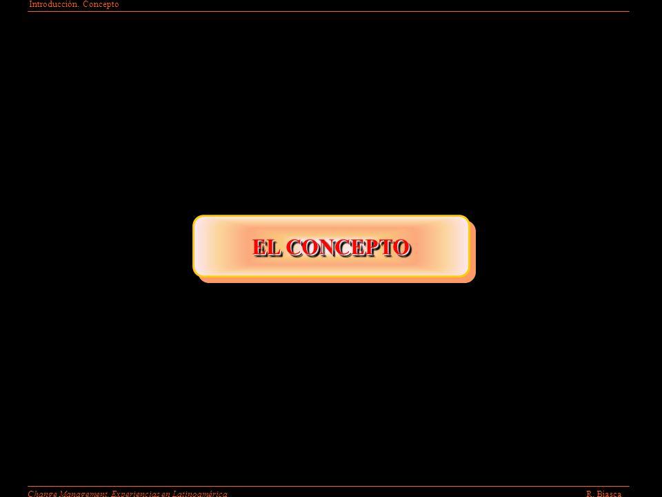 Introducción. Concepto R. BiascaChange Management. Experiencias en Latinoamérica EL CONCEPTO