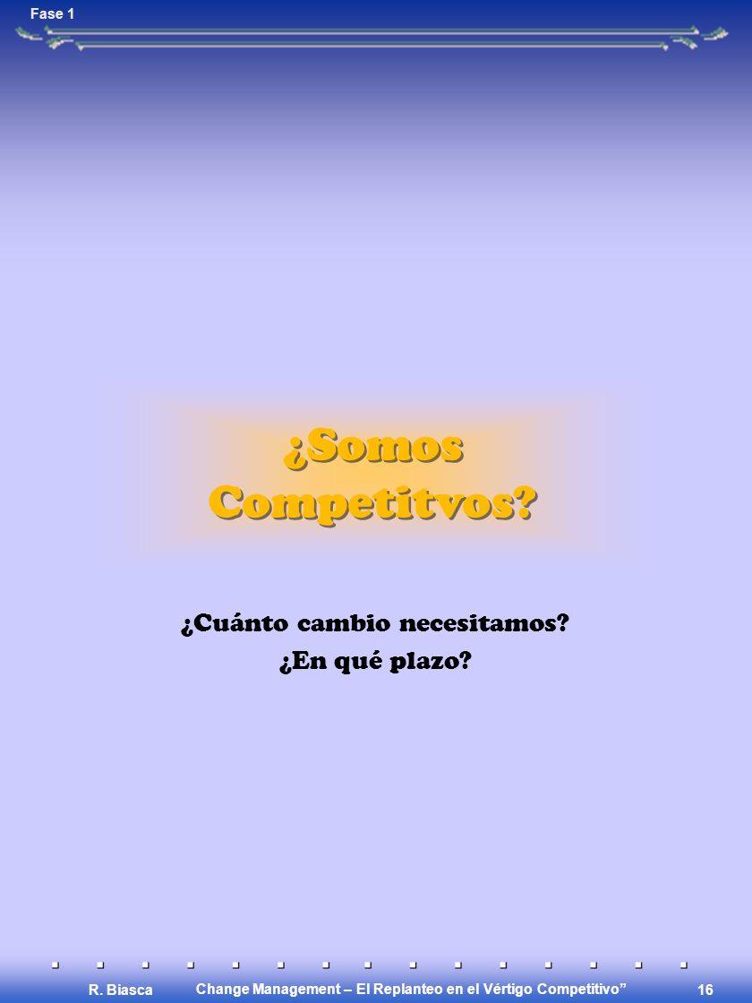 Change Management – El Replanteo en el Vértigo Competitivo R.