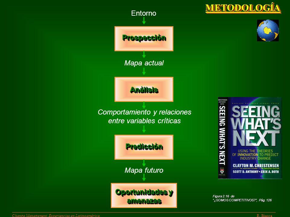 Fase 1 R. BiascaChange Management. Experiencias en Latinoamérica ANALISIS DE : CONTEXTO ACTUAL Y FUTURO CONTEXTO ACTUAL Y FUTURO LA EMPRESA LA EMPRESA