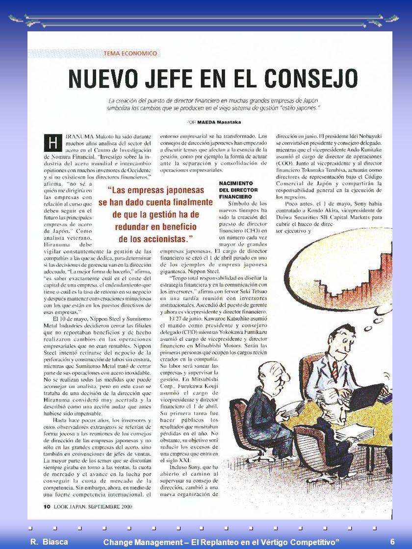 Change Management – El Replanteo en el Vértigo Competitivo R. Biasca 5