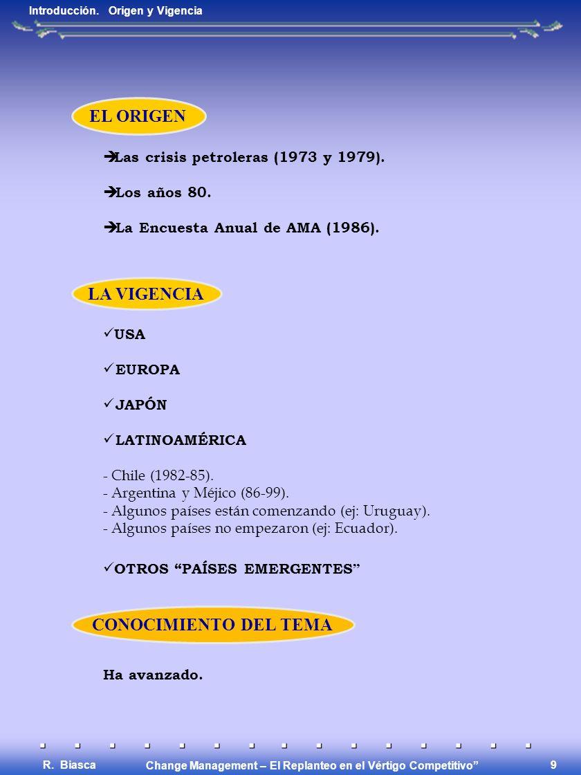 Change Management – El Replanteo en el Vértigo Competitivo R. Biasca 8