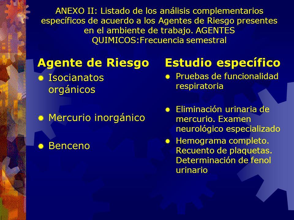 Exámenes Periódicos (Res. SRT 43/97) SUPERINTENDENCIA DE RIESGOS DEL TRABAJO. ARTICULO 3º.- Exámenes periódicos: objetivos, obligatoriedad, oportunida