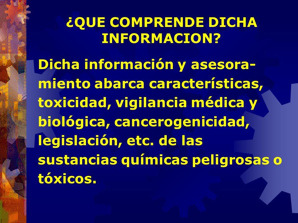 ¿QUE OFRECE PREVENTOX, Y A QUIENES? Información y Asesoramiento a Médicos Laborales, Ingenieros en Higiene y Seguridad, Técnicos, Trabajadores, Comisi