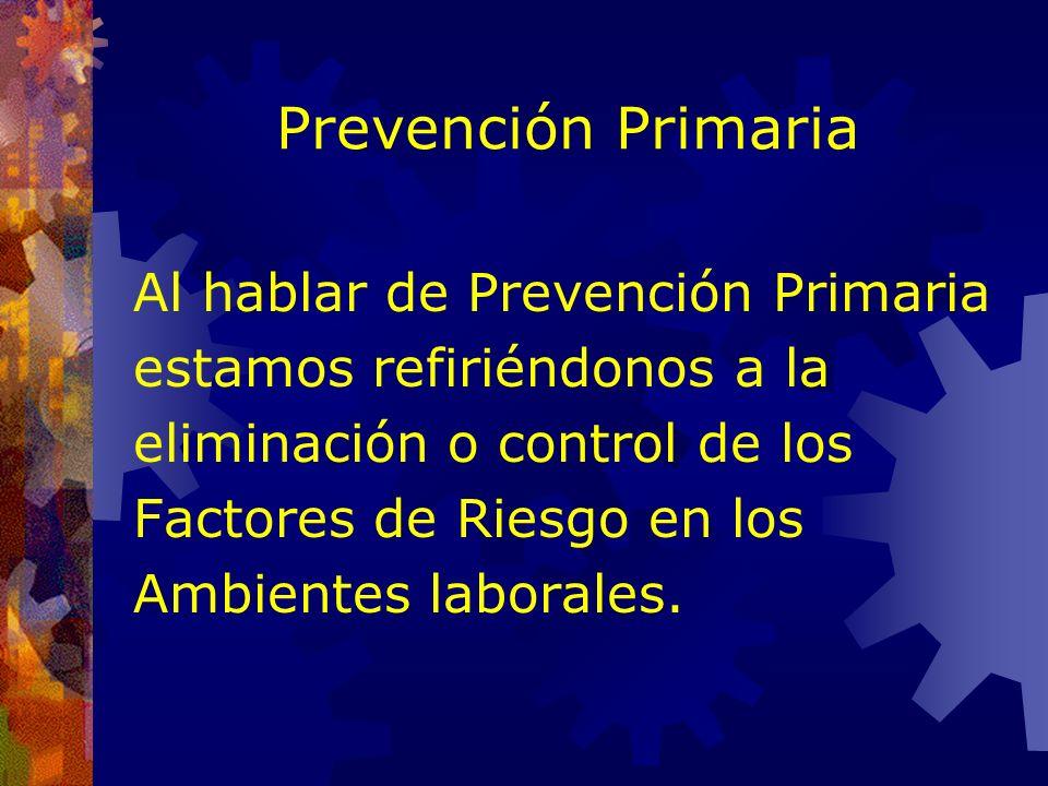 Prevención El concepto moderno de Prevención comprende dos aspectos distintos pero complementarios. 1. Prevención Primaria. 2. Prevención Secundaria.