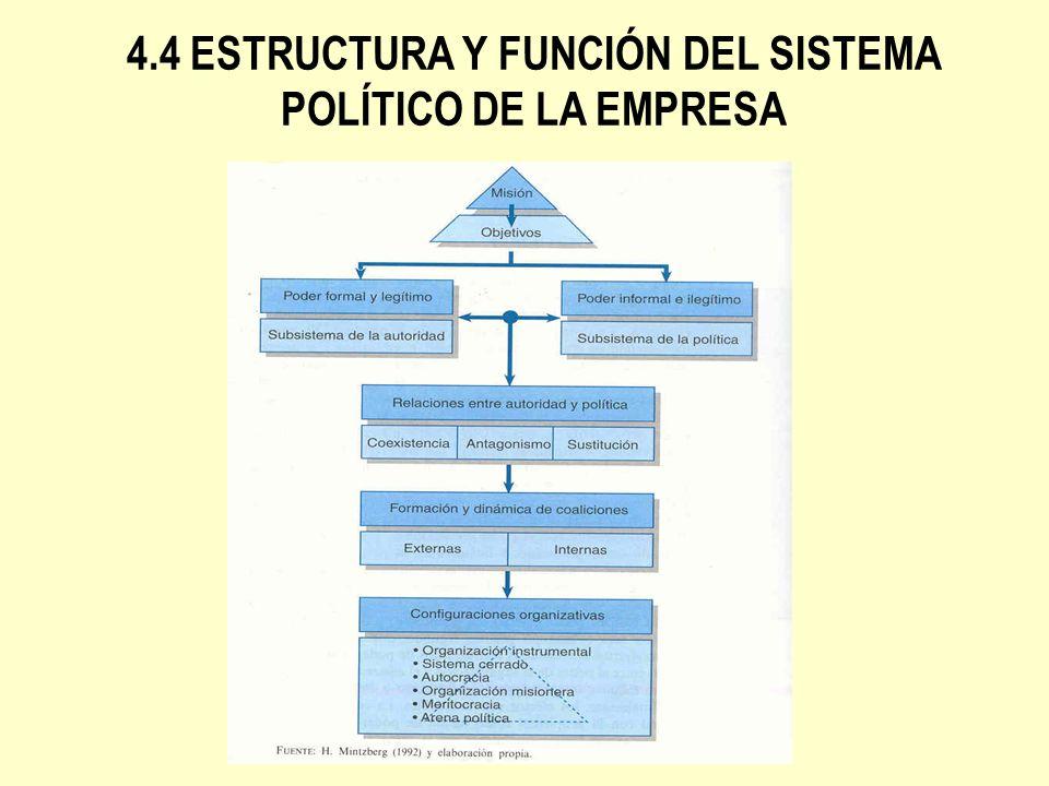 CONFIGURACIONES ORGANIZATIVAS QUE SE DERIVAN DEL PODER Organización instrumental: Surge como respuesta a un agente externo.