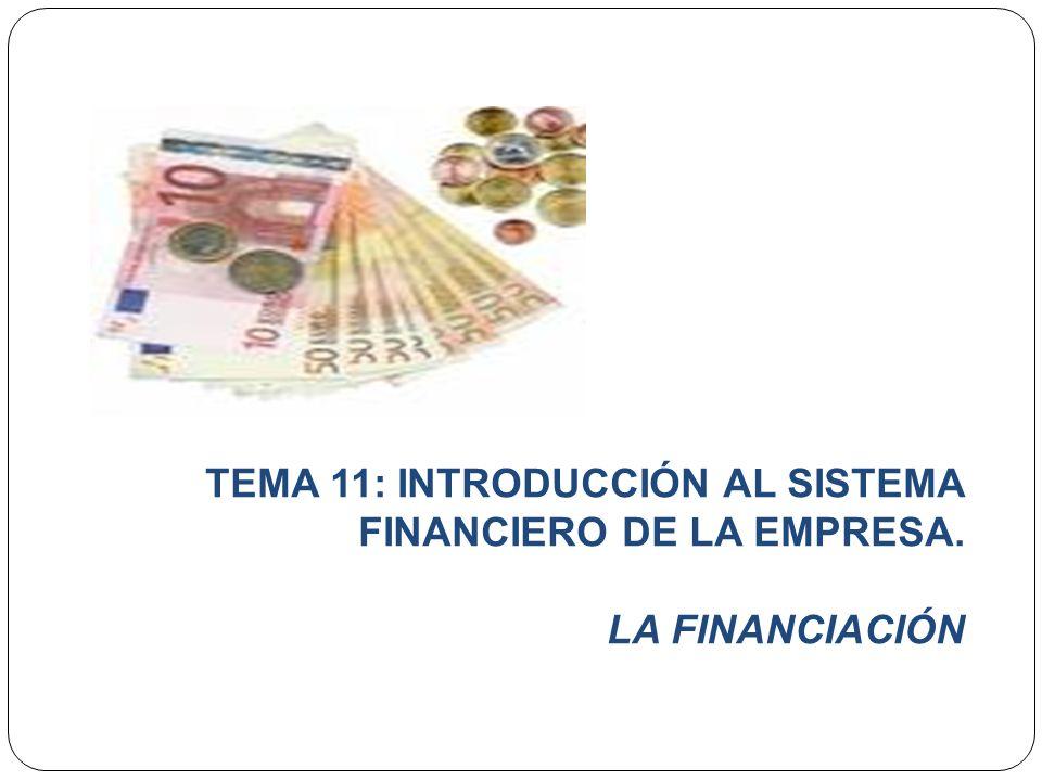 OBJETIVOS DE CONOCIMIENTO DEL TEMA 4 1.- LA FUNCIÓN FINANCIERA EN LA EMPRESA.