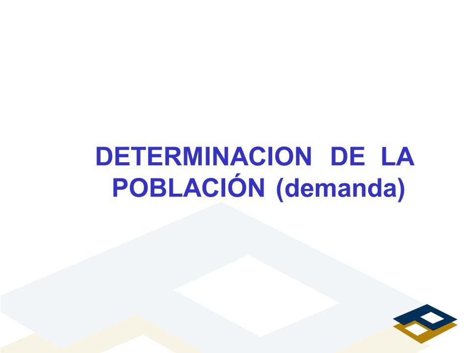 DETERMINACION DE LA POBLACIÓN (demanda)