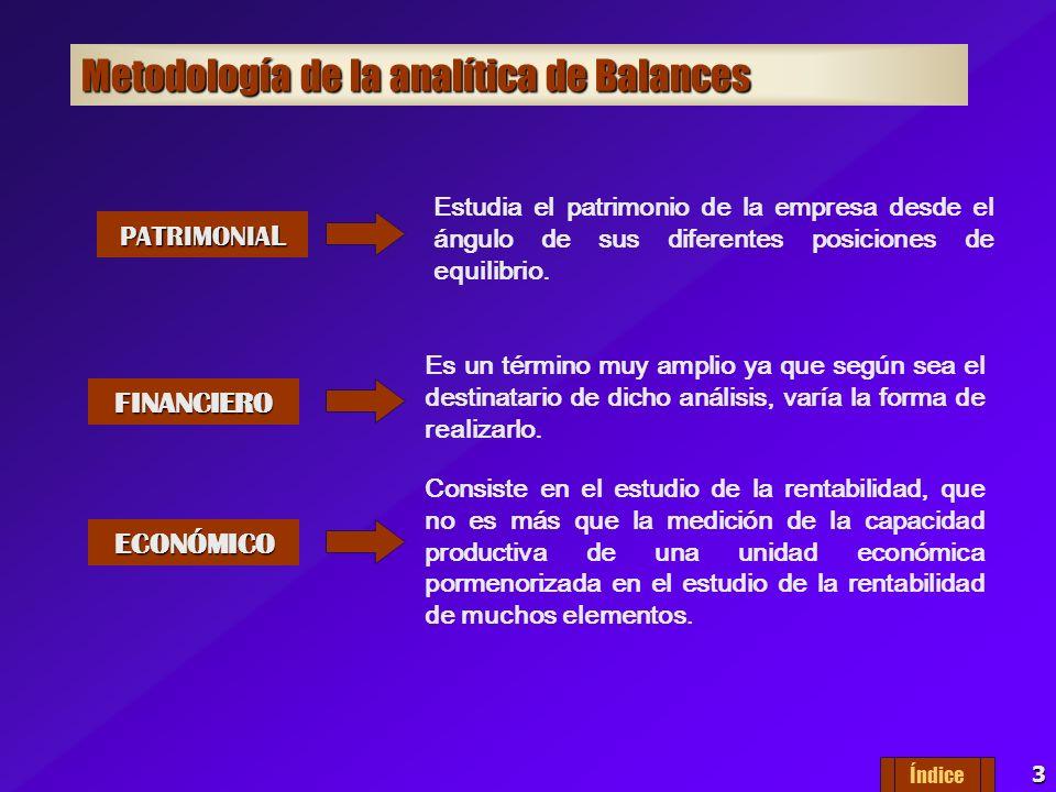 3 Metodología de la analítica de Balances PATRIMONIA L FINANCIERO ECONÓMICO Es un término muy amplio ya que según sea el destinatario de dicho análisis, varía la forma de realizarlo.