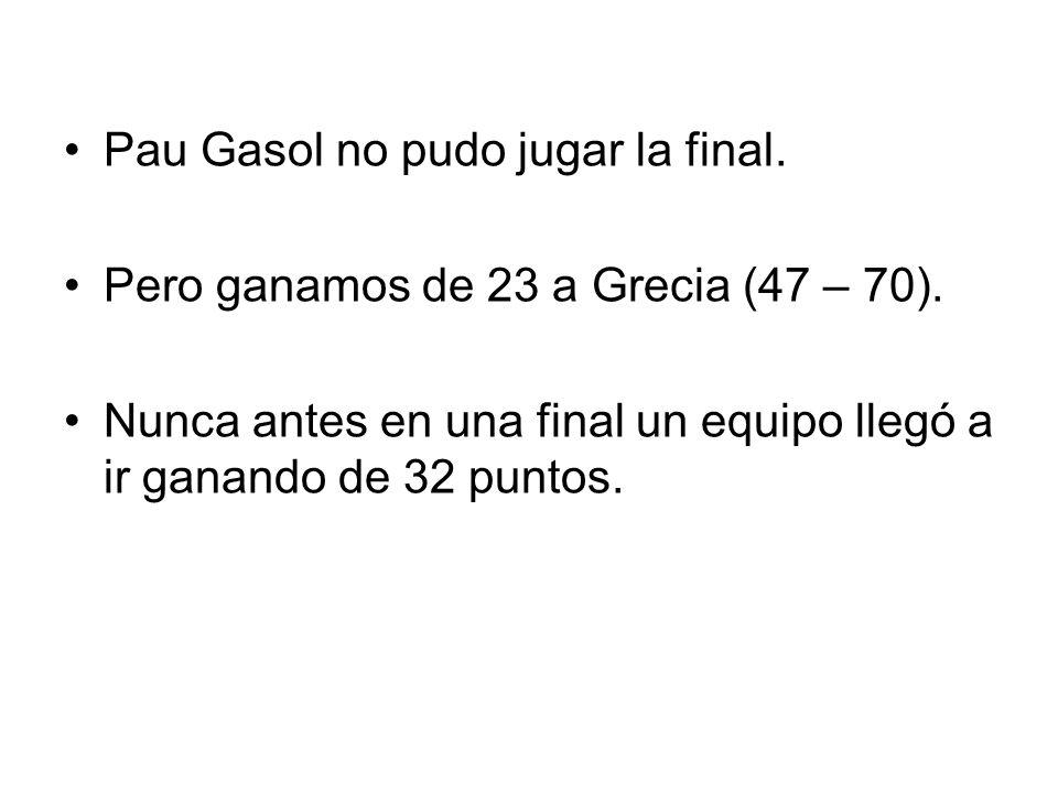 4. Pau Gasol 5. Rudy Fernández 6. Carlos Cabezas 7.