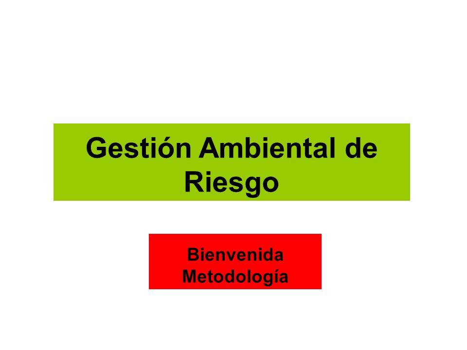 Gestión Ambiental de Riesgo Bienvenida Metodología