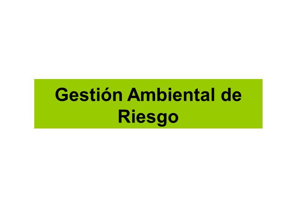 Gestión Ambiental de Riesgo