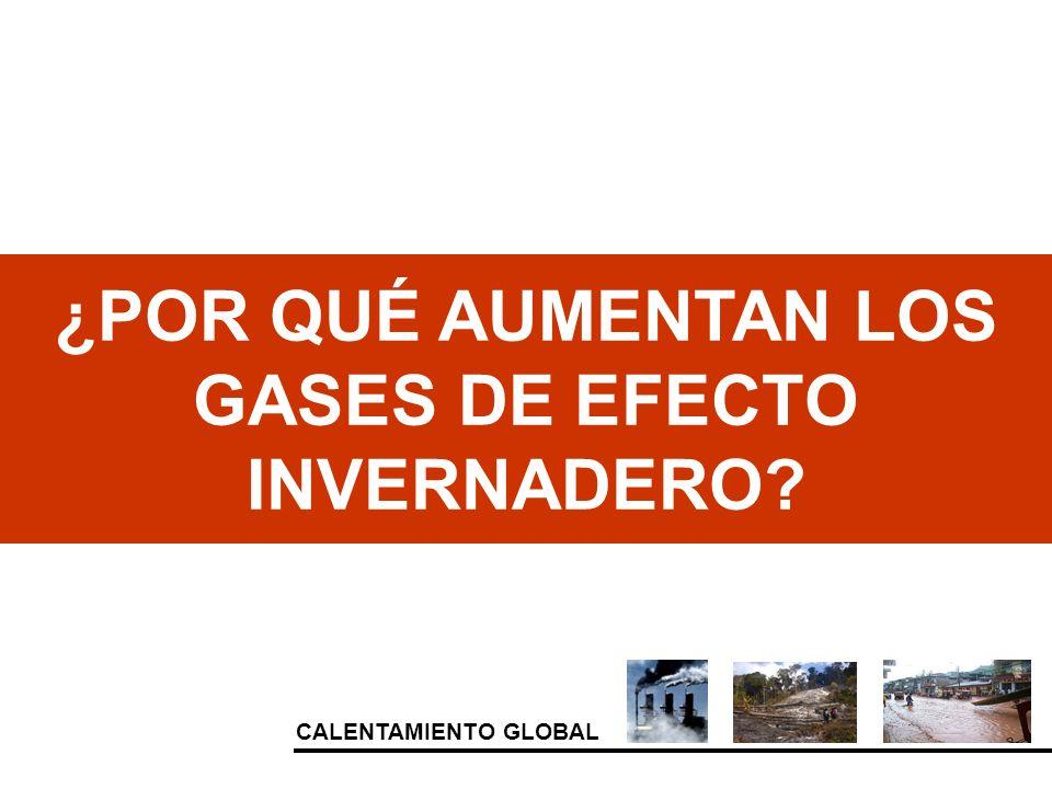 CALENTAMIENTO GLOBAL ¿POR QUÉ AUMENTAN LOS GASES DE EFECTO INVERNADERO?