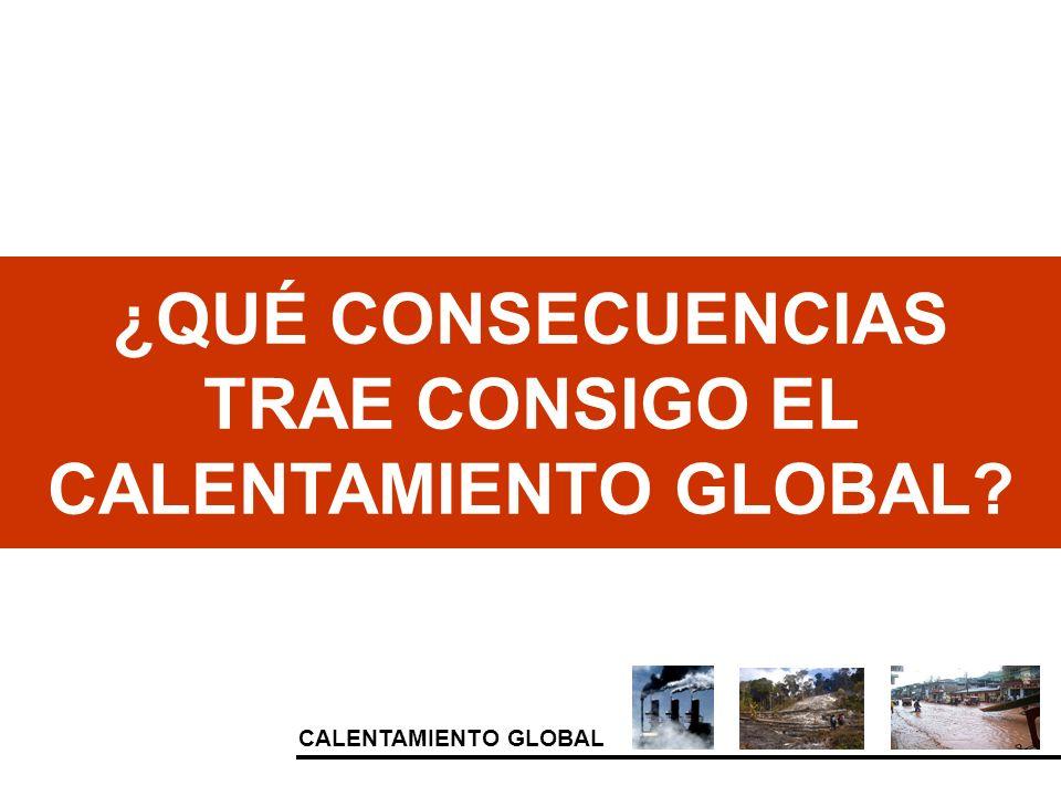 CALENTAMIENTO GLOBAL ¿QUÉ CONSECUENCIAS TRAE CONSIGO EL CALENTAMIENTO GLOBAL?