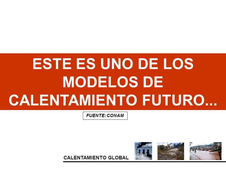 CALENTAMIENTO GLOBAL ESTE ES UNO DE LOS MODELOS DE CALENTAMIENTO FUTURO... FUENTE: CONAM