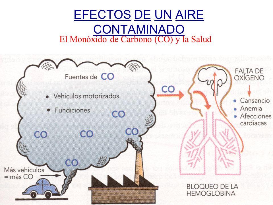 EFECTOS DE UN AIRE CONTAMINADO El Monóxido de Carbono (CO) y la Salud