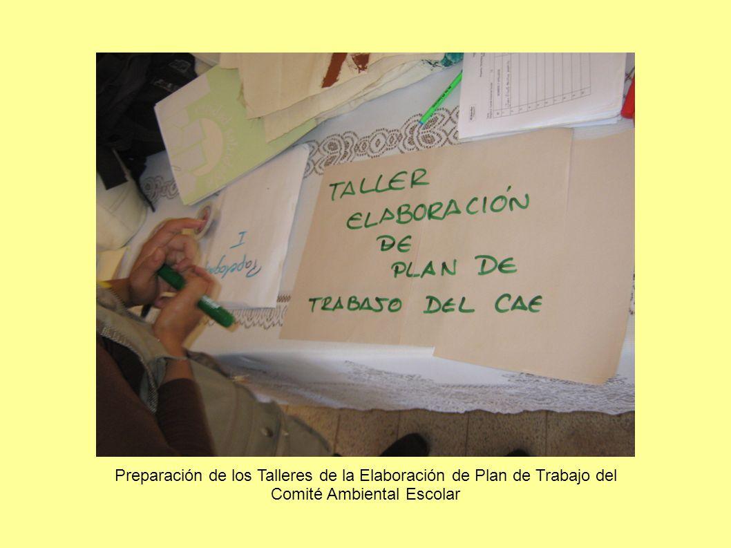 Presentación del concepto del taller a la CAE de la I.E. Nuestra Señora de la Asunción en Chilca