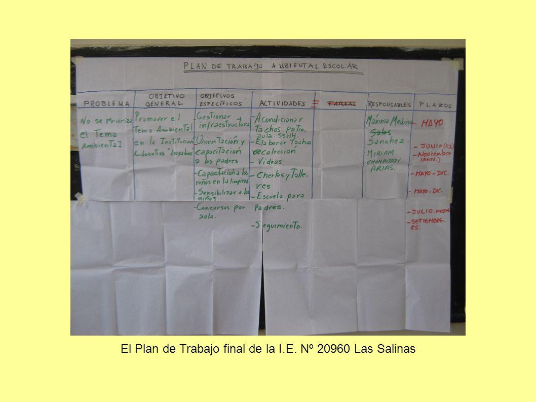 El Plan de Trabajo final de la I.E. Nº 20960 Las Salinas